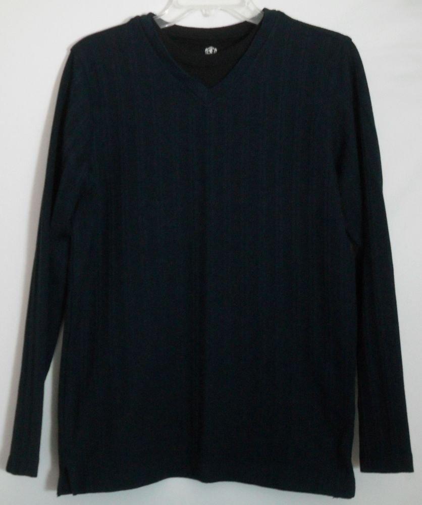Covington Long Sleeve Dark Green/Blue Black Small S/C 34-36 Pullover Top