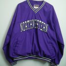 Northwestern College Purple Pullover Wind Shirt Nice Inside Lining Team Edition