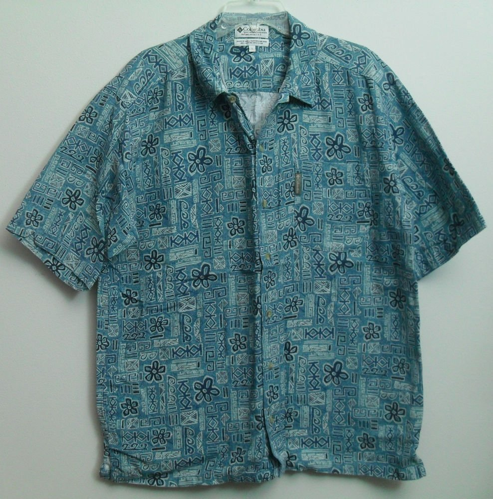 Columbia Sportswear Company Portland Oregon Button Down Casual Short Sleeve Top