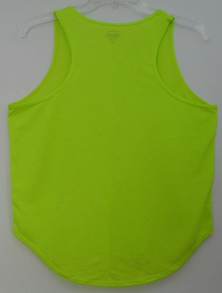 Brooks Acive Wear Running Tank Top Lightweight Bright Yellow/Green 100% Coolmax