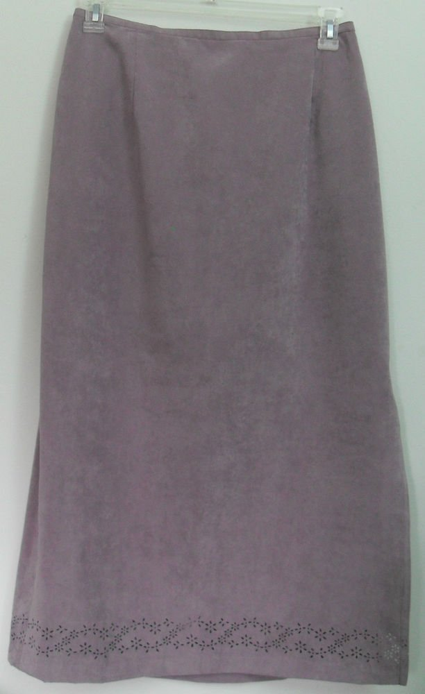 Alfred Dunner Women 14 Long Suit Skirt Half Elastic Waist Band 16 Inch Side Vent