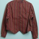 LizWear a Liz Claiborne Company Mandarin Collar Full Button Down 1 Chest Pocket