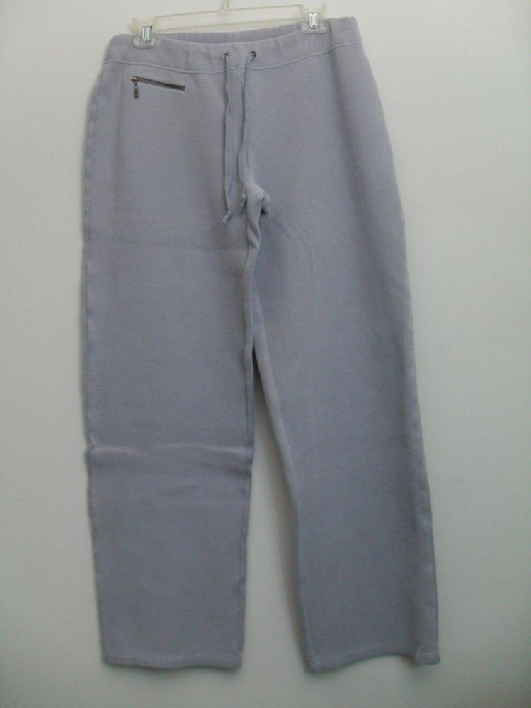Tommy Bahama Blue Violet Lounge Jogging Sweat Knit Pants 1 Zip Pocket Drawstring