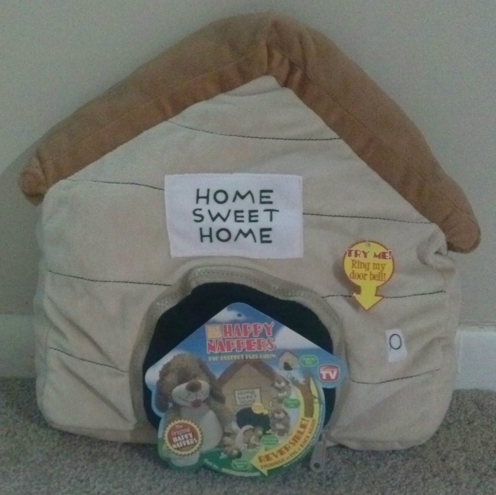 ORIGINAL HAPPY NAPPER SOUND DOORBELL PLUSH PILLOW PUPPY TO DOG HOUSE REVERSIBLE