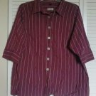 Avenue Signature Shirt 26 28 Purple Red ( Burgundy ) Button Down Cotton Stretch