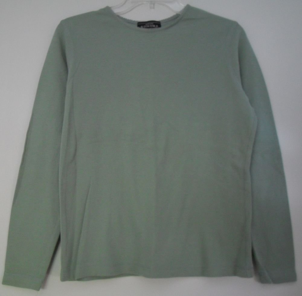 Genuine Sonoma Jean Company Long Sleeve Green Thermal Knit Top sz Medium NiceFit