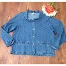 Vtg. 90s Cherokee Embroidered Denim Button Up (M)