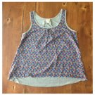 Mossimo Floral Sleeveless Tank Blouse (M)