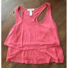 Ambiance Apparel Coral Crop Tank (S)