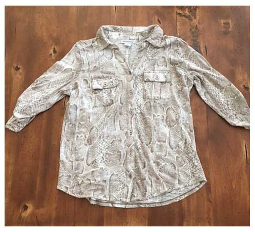 Liz Claiborne Snakeskin Button Down (M)