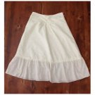 Michael P. Ivory Eyelet Peasant Style Skirt Small EUC Lined
