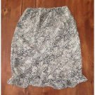 Kathie Lee Collection Snakeskin Print Skirt Lined Tan Small 4/6 EUC