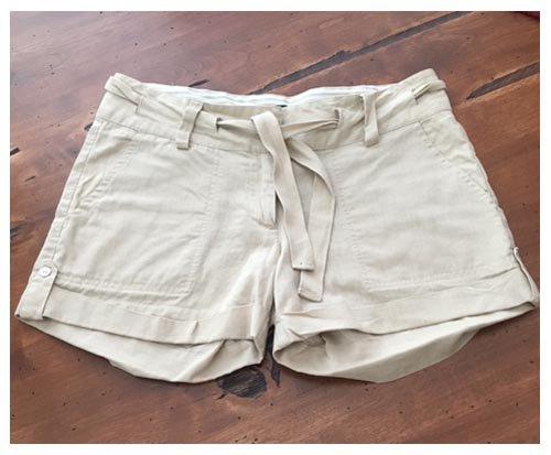 Forever 21 Tan Linen Shorts (S)