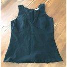 Frenchi Black Sleeveless Cotton Blouse (M)
