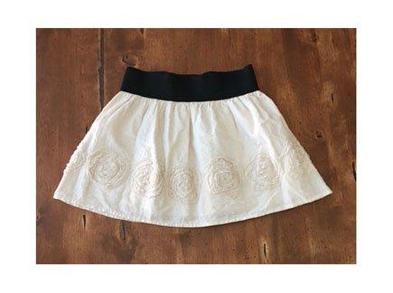 Passport Ivory Eyelet Full Mini Skirt (JrL)