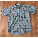 Vtg. 90s Dress Barn Checkered Embroidered Button Down (S)