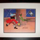 Captain Hook Peter Pan Sword Hand Signed Walt Disney Sericel Cel Jolly Roger