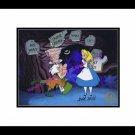 Alice Wonderland Hand Signed Walt Disney Sericel Cel Tulgey Woods Madd Hatter