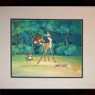 Bambi Thumper Hand Signed Walt Disney Sericel Cel FREE background MARC DAVIS