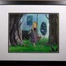 STUNNING Sleeping Beauty Disney Sericel cel NEW Frame Deluxe Forrest background