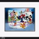Team Disney CAL ARTS Sericel Mickey Goofy Donald Back Stage NEW FRAME 1991  COA