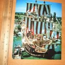 Vintage Fantasyland Pirate Ship Disneyland NEW print Chicken of the Sea 1950s