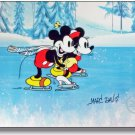 Disney Sericel Signed MARC DAVIS Mickey Mouse Minnie On Ice  FREE Background Cel