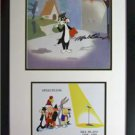 signed Mel Blanc Sylvester production cel Warner Bros GA Certificate NEW Frame