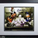 WALT DISNEY Goofy Donald Hand SIGNED photo BRAND NEW Solid Wood Frame CoA