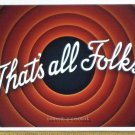 Loony Tunes THAT'S ALL FOLKS 8x12 inch photograph VERY HIGH QUALITY Warner
