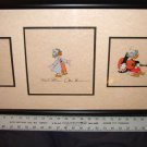 3 Ludwig Von Drake production Cel HAND signed Frank N Ollie Disney 1950s 1960s