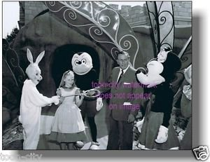 Walt Disney Disneyland Alice Wonderland Opening day Attraction 1956 Mickey