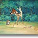Bambi Thumper Hand Signed Walt Disney Cel  Sericel MARC DAVIS 2 COA 1942