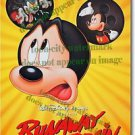 12x8 inches Mickey Mouse Runaway Brain Mini Movie Poster photograph glossy NEW