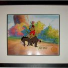 Winne the Pooh Hand Signed Walt Disney Sericel Cel FREE background MARC DAVIS