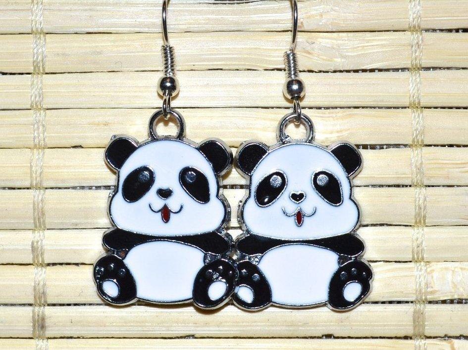 """Earrings """"Funny pandas"""""""