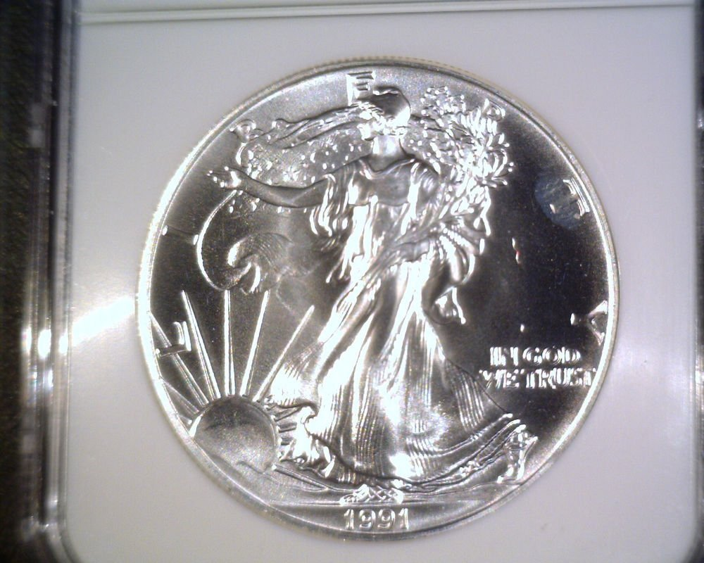 Silver American Eagle Bullion Coin 1991 NGC MS69 $1 One Full Ounce .999 fine