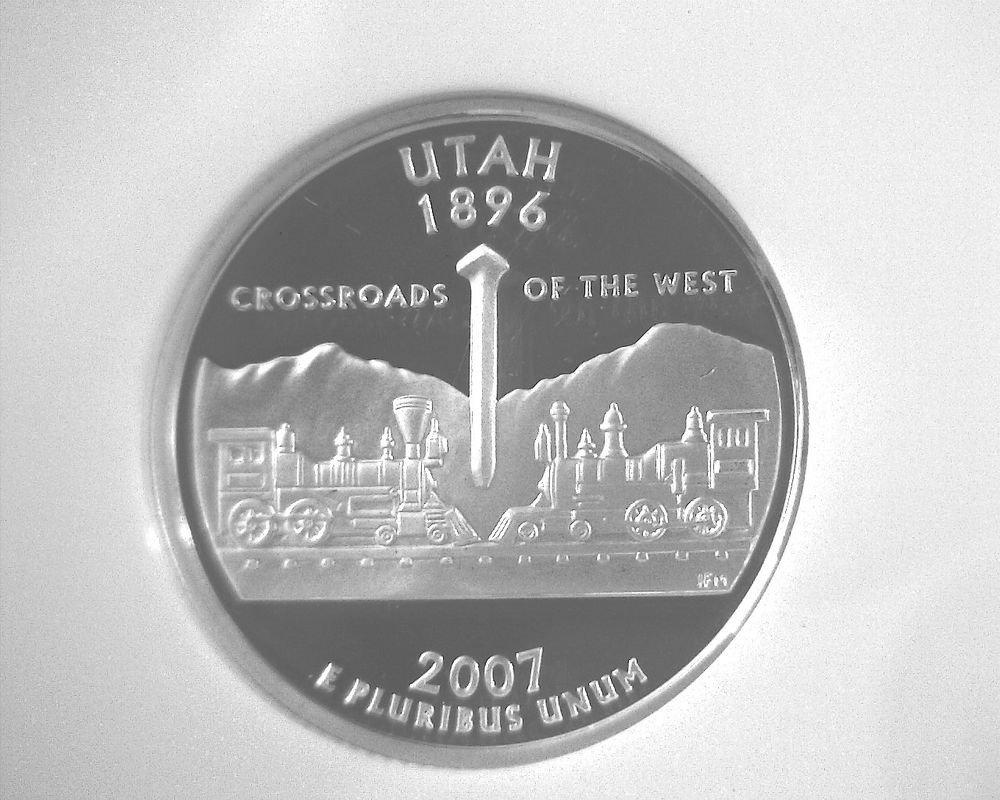 2007 S Silver Proof Utah State Quarter NGC PF70 Ultra Cameo Free US Ship