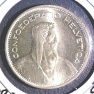 1967 Switzerland Silver 5 Francs Coin BU KM#40    .4027 ASW