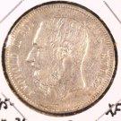1873 Belgium 5 Francs Silver Coin XF KM#24   .7234 ASW