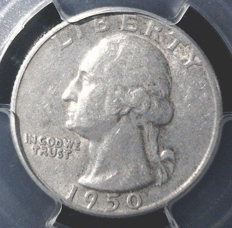 1950 D Washington Quarter PCGS XF45