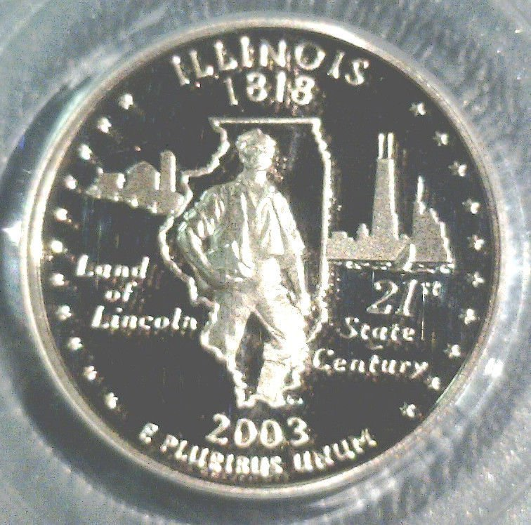 2003 S Illinois Proof State Quarter PCGS PR69DCAM State Flag Lincoln