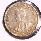 1936 M Australia Silver Sixpence Coin XF KM#25  .0839 ASW