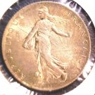 1918 France Silver 2 Franc Coin XF KM#845.1  .2684 ASW