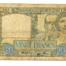 1940 France 20 francs note Pick#92 Vichy Nazi Occupation