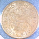 1940 New Zealand  Penny KM# 13 Uncirculated