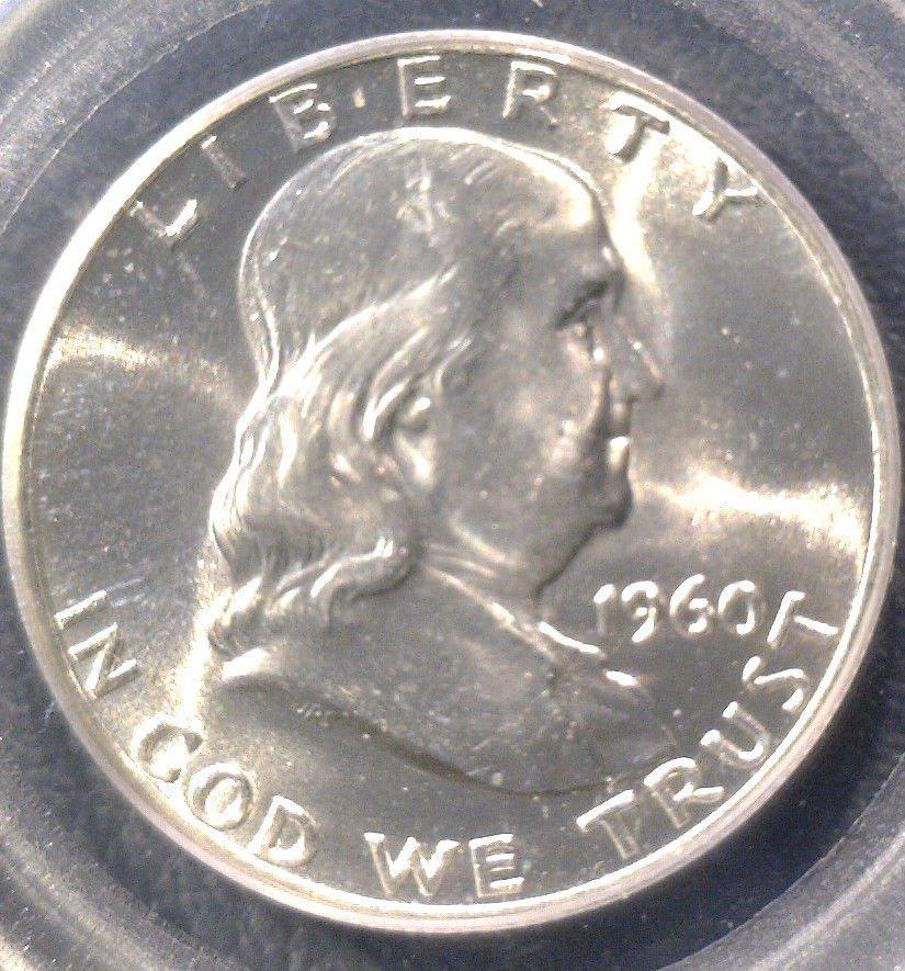 1960 Franklin Silver Half Dollar PCGS MS64FBL