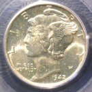 1942 D Mercury Dime PCGS MS65FB Winged Liberty Full Bands
