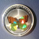 2008 Palau Silver Proof Holographic  Butterfly $5 Coin KM#171   .7435 ASW