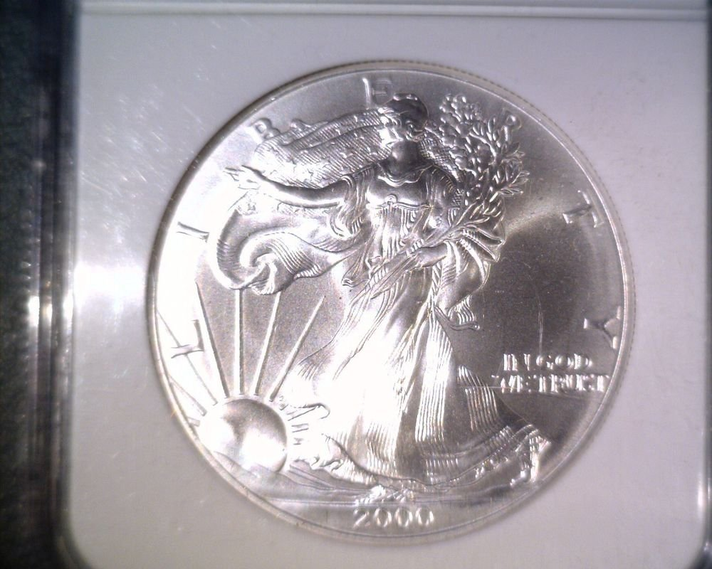 NGC MS69 US 2000 American Silver Eagle Bullion/Dollar    #E
